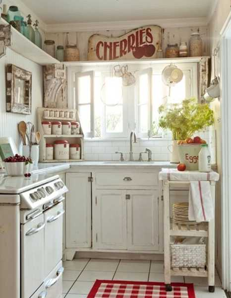 White Kitchen Cabinets And Cintage Accessories Vintage Kitchen Accessories