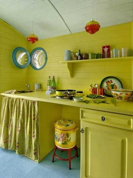 26 modern kitchen decor ideas in vintage style for Green yellow kitchen ideas