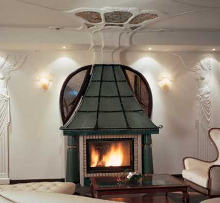 fireplace and ceiling designs in modern style