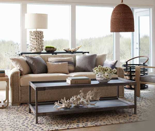 living room furniture and lamp shade made of rattan and hard wood