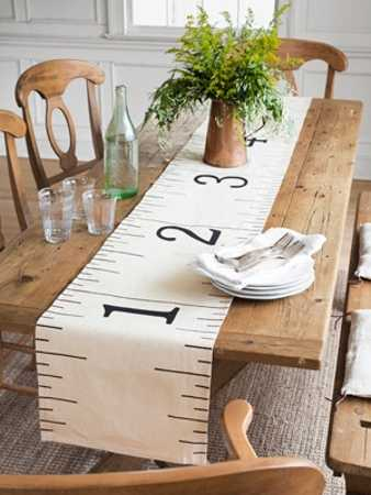 Tape Measure Table Runner Creative Home Decorations