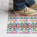 floor mat made of plastic tape lines