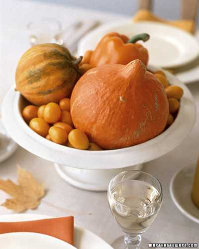 gourds and pumpkins in white vase for thanksgiving decorating