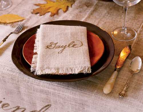 decorating ideas individual table centerpieces and napkins