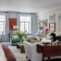 white living room decorating in eclectic style