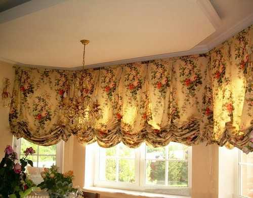 short kitchen curtains with floral design