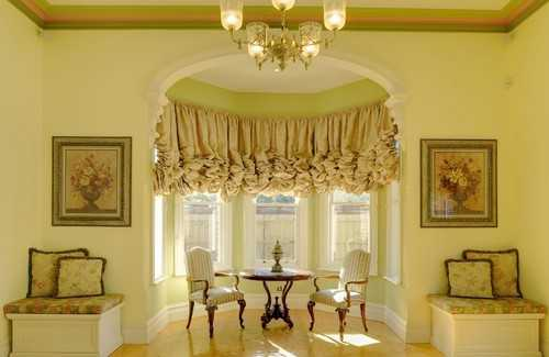 Light Balloon Curtains, Window Treatment Design For Interior Decorating In  Classic Style