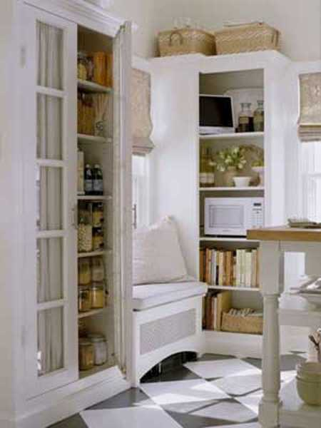 small window seat bench with white cushions