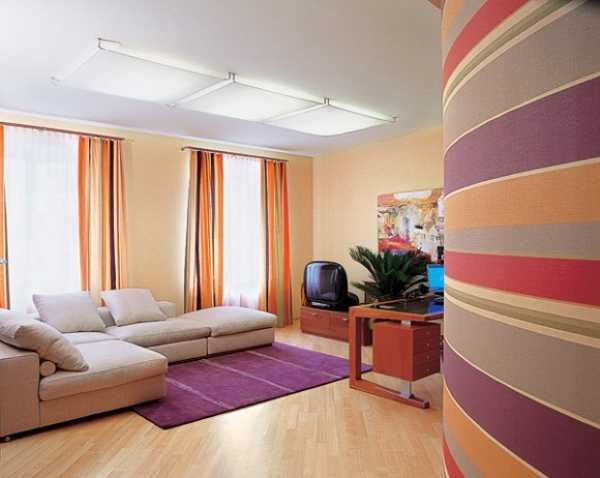 colorful striped wall design