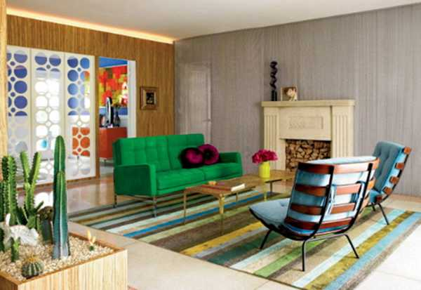 contemporary living room furniture in bright colors