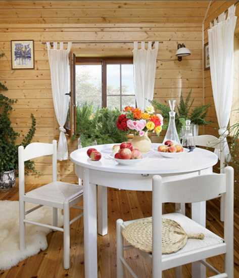 simple and elegant cottage style decor wood furniture and natural