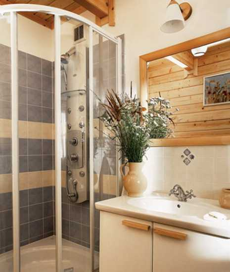 country style bathroom design with glass shower - Home Decor Styles