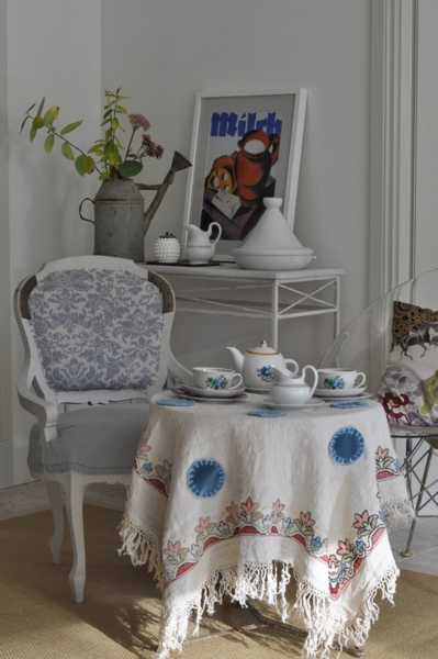 handmade tablecloth with embroidery