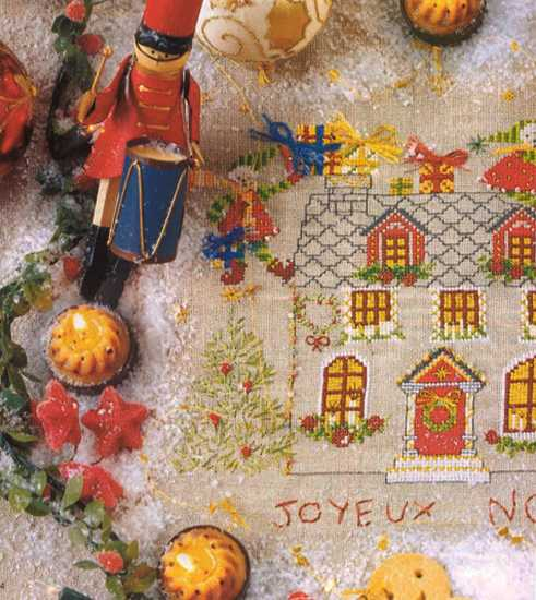 christmas cross stitching patterns in vintage style