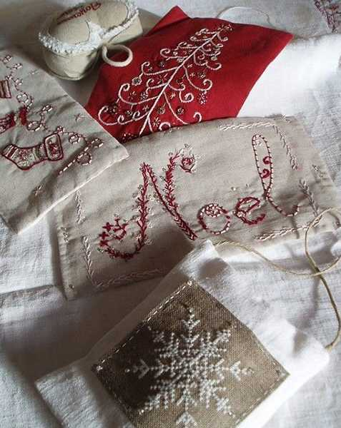 christmas embroidery patterns for holiday decorations in vintage style