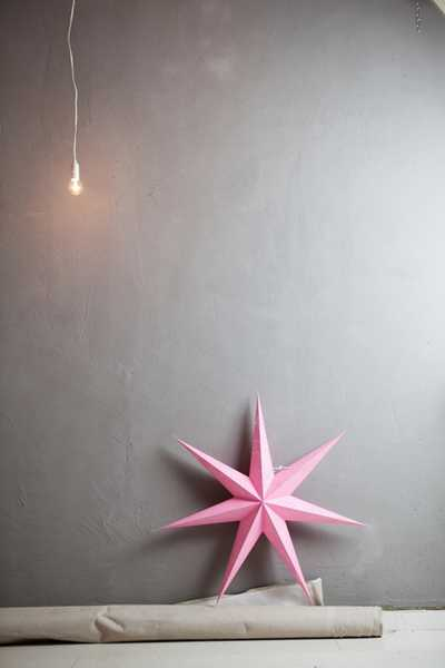 christmas star made of paper