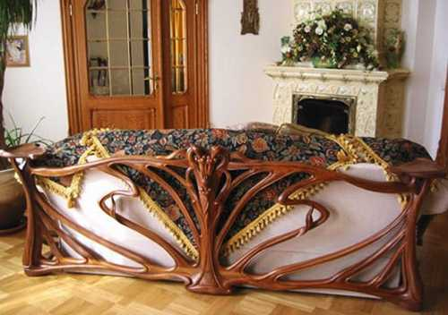 carved wood living room sofa frame