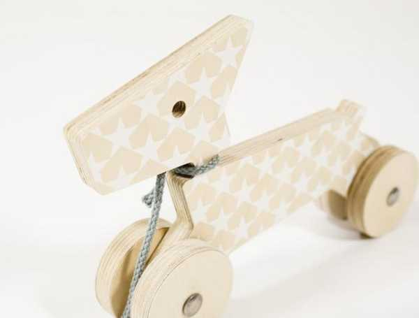 baby room ideas, wooden pull toy