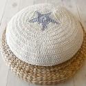 crochet ottoman with starfish pattern, baby room ideas