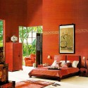 oriental interior decorating colors, black and red