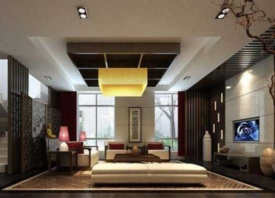 Living Room Decorating With Low Furniture In Asian Style