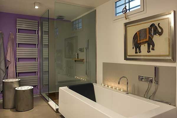 modern bathroom design with glass shower