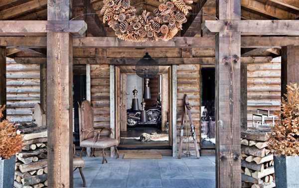 cottage entrance door decorating