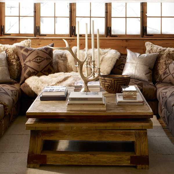 Ralph lauren interior rustic homes living room country homes decor - Chalet deco ...