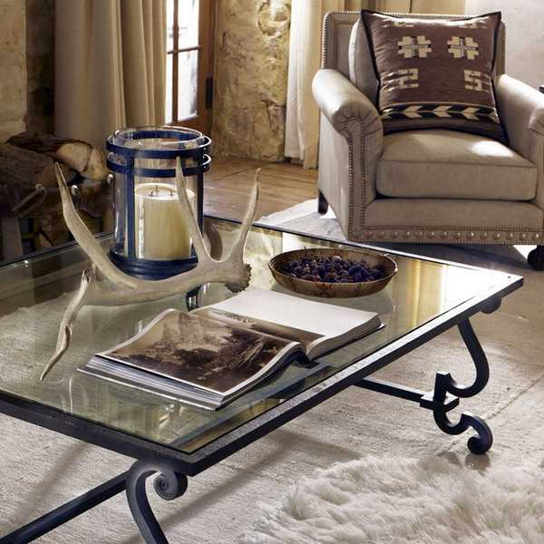iron furniture and handmade decorative accessories