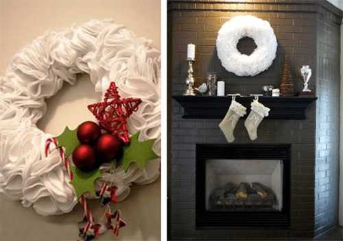 christmas wreath for fireplace decorating