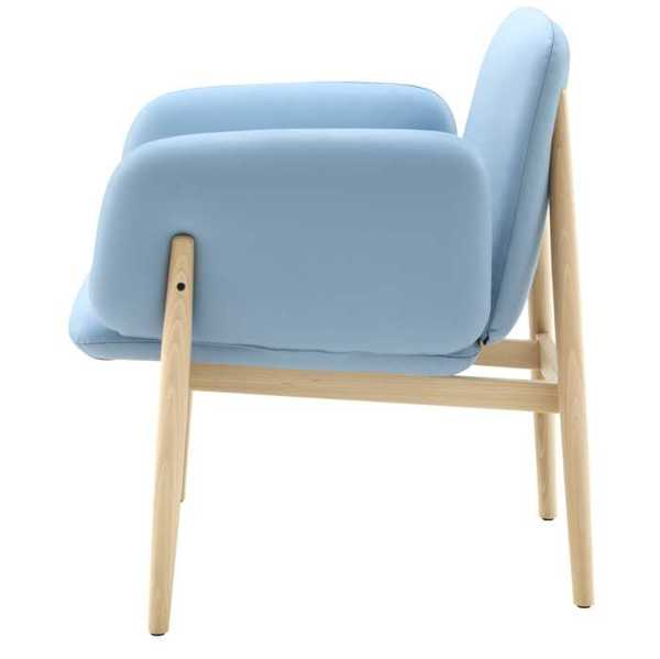 light blue upholstered chair