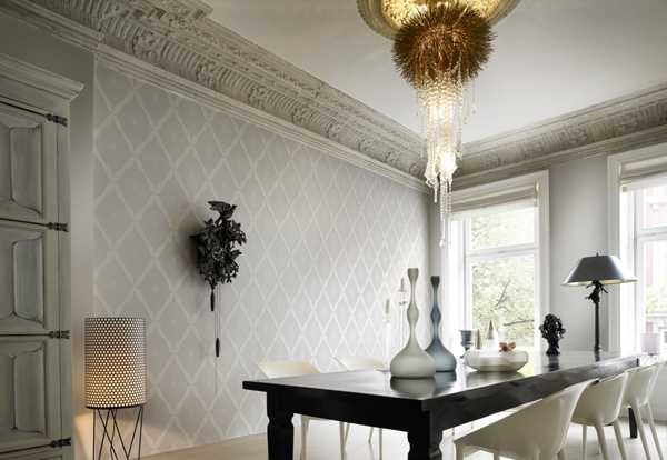 classic wallpaper pattern in gray color