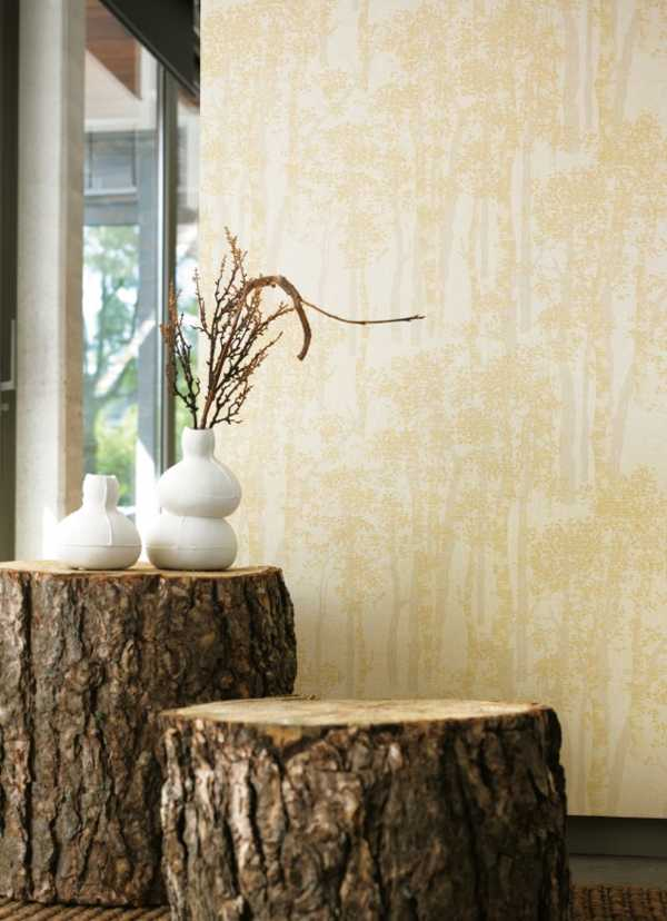 latest trends in interior decorating, tree stump furniture
