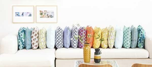 colorful sofa pillows