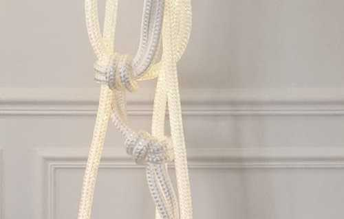 contemporary pendant light made with white rope