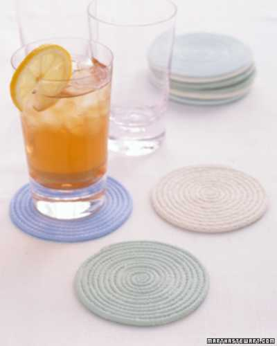 kitchen accessories made with cotton rope
