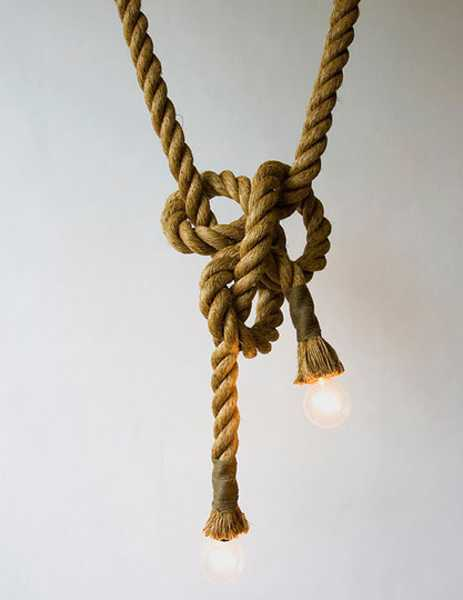 jute rope pendant light