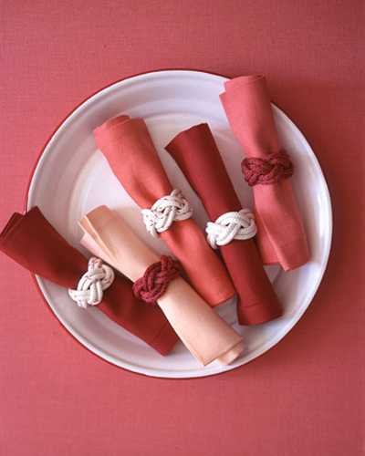 make napkin rings with rope