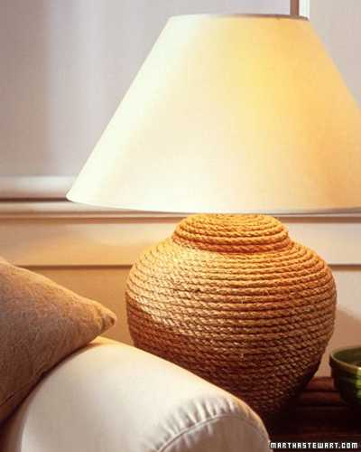 jute rope for decorating table lamps