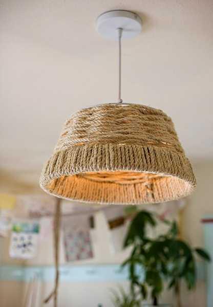jute rope lamp shade for pendant light