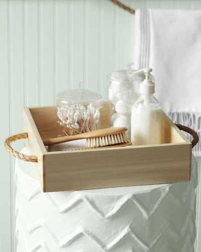 wooden boxes with jute rope handles