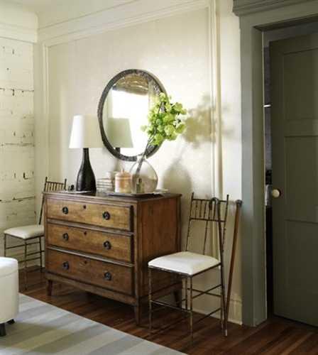 vintage furniture and mirror