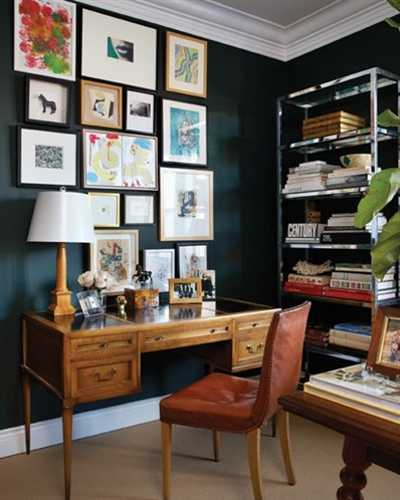 vintage furniture for home office and wall decor
