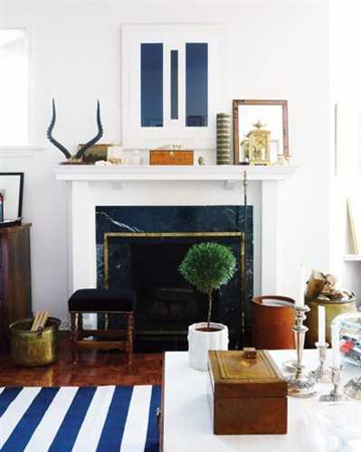 vintage decor accessories for fireplace mantel