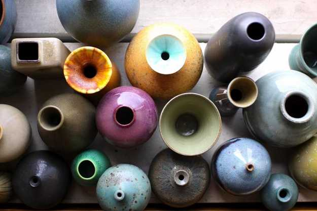 colorful ceramic decorative vases