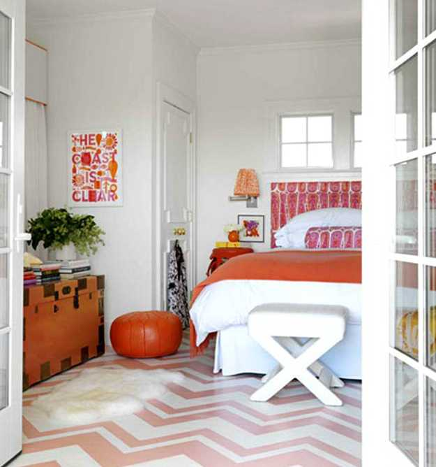 Bedroom Neutral Paint Ideas Bedroom Decor Trends Orange Bedroom Curtains Images Of Bedroom Paint Ideas: 22 Modern Interior Decorating Ideas Using Zigzag Patterns