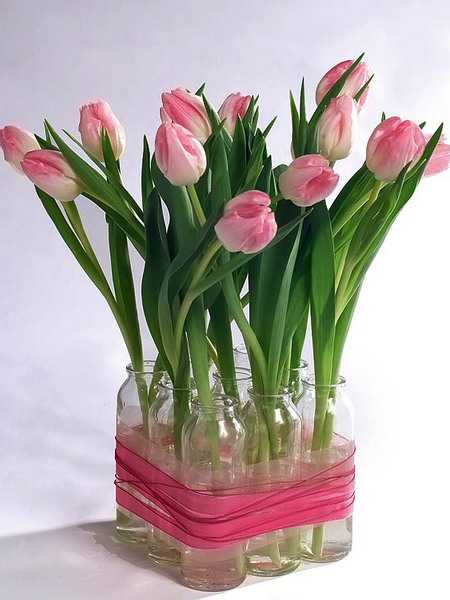 ideas for diy recycling glass vases and flower arrangements, Beautiful flower