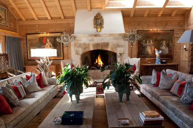 old alpine chalet in french style displays art deco