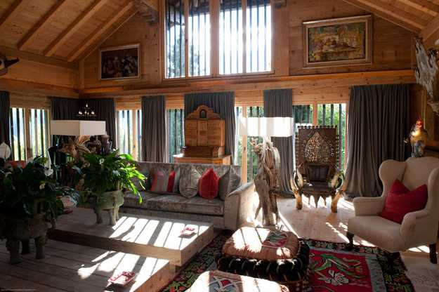 Old Alpine Chalet in French Style Shows Art Deco ...