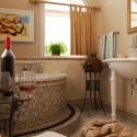 mosaic bathroom design in mediterranean style